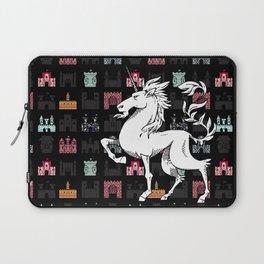 Unicorn on a field of castles Laptop Sleeve