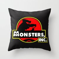 monsters inc Throw Pillows featuring Monsters, Inc Logo.  by Gary Wood