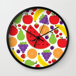 Colorful Fruit Circle Wall Clock