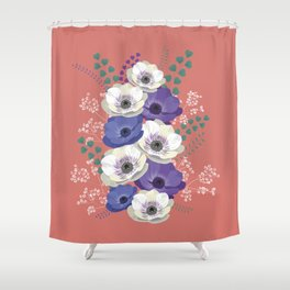 Anemones collection: bouquet II Shower Curtain