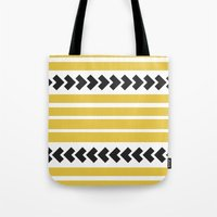 striped Tote Bags featuring Striped by Mariana Nabas