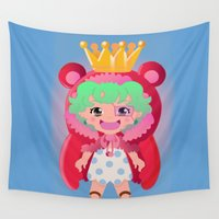 one piece Wall Tapestries featuring Sugar from one piece by Dama Chan
