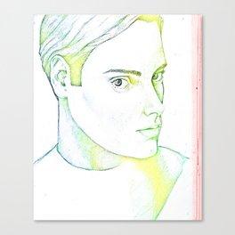 Drawn Boy Canvas Print