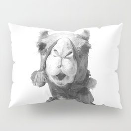 Black and White Camel Portrait Pillow Sham