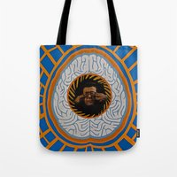 brain Tote Bags featuring Brain by Canson City