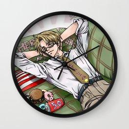Sleeping USA Wall Clock