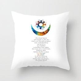 Native American Art Harmony Symbol - Peace Prayer - Sharon Cummings Throw Pillow