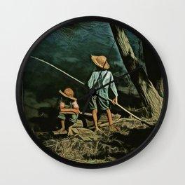 The Fishing Hole Wall Clock
