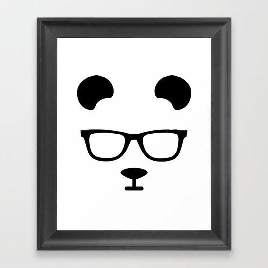 Nerd Panda Framed Art Print