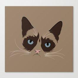 Grumpy Tard Canvas Print