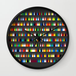 Color by Number: Pi Wall Clock