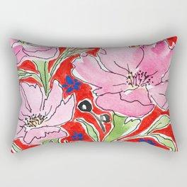 Cosmos in Red Rectangular Pillow