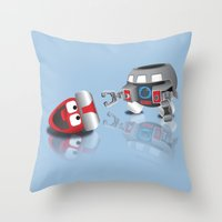 olaf Throw Pillows featuring OLAF - INCENT by dapperdesignz