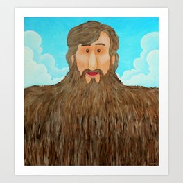Jim's Amazing Beard Art Print