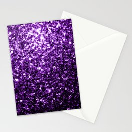 Beautiful Dark Purple glitter sparkles Stationery Cards