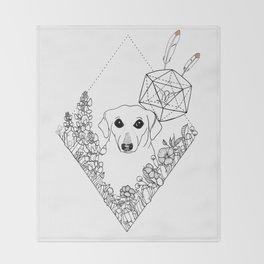 Geometric Dachshund Garden Throw Blanket