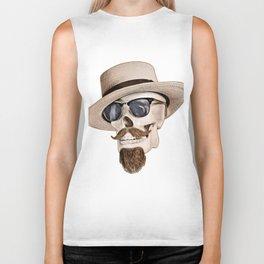 Hipster Skull Biker Tank