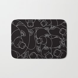 Minimalist Platypus Black and White Bath Mat