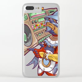 Tezcatlipoca Old School Hip Hop Clear iPhone Case