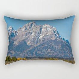 Mountain Landscape with Snow Rectangular Pillow