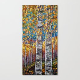 Colourful Autumn Aspen Trees Canvas Print