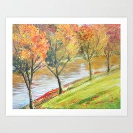 Kansas trees landscape Art Print