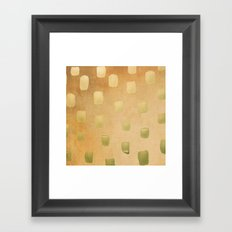 Golden Splotch Haze Framed Art Print