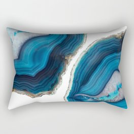 Blue Agate Rectangular Pillow