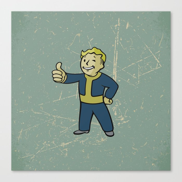 Vault Boy - fallout 4 Canvas Print