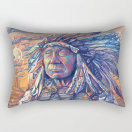 native american portrait-red cloud Rectangular Pillow