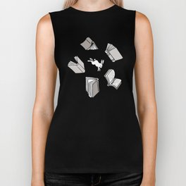 Books: Through the rabbit hole_Warm Gray Biker Tank
