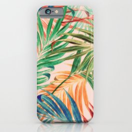 Palm Leaves in color iPhone Case