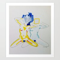 nudes Art Prints featuring Nudes by Paige Galvez