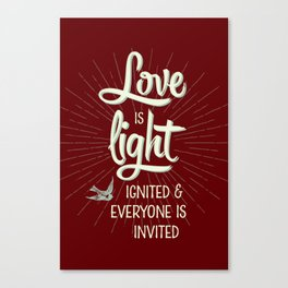 Love is Light Canvas Print