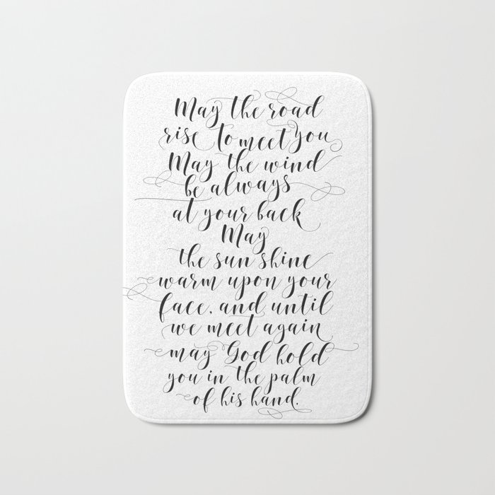 MAY THE ROAD rise to meet you Irish blessing sign Irish blessing ...