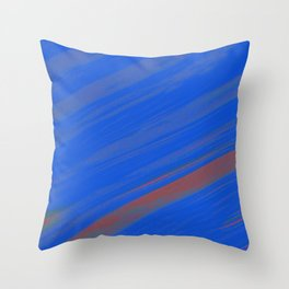 White Noise (Blue) Throw Pillow