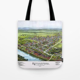 ROYERSFORD PENNSYLVANIA city old map Father Day art print poster Tote Bag