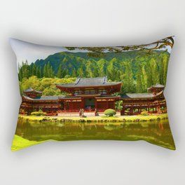 Buddah's Temple 2 ... By LadyShalene Rectangular Pillow