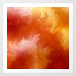 Sunset Glow Abstract Art Art Print