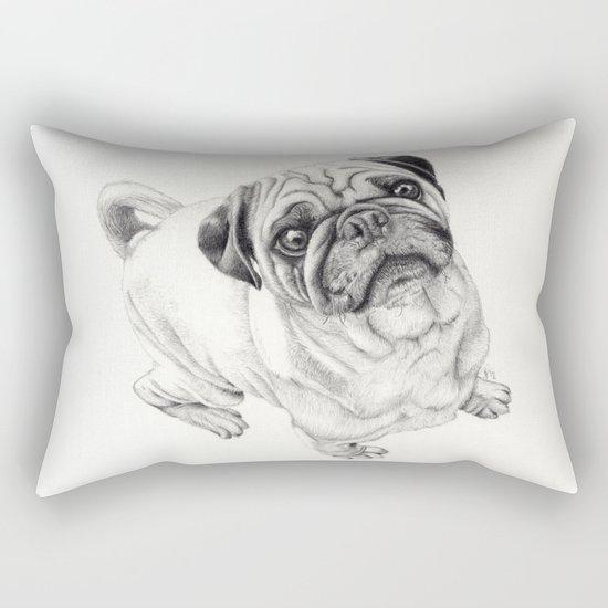 Seymour the Pug Rectangular Pillow