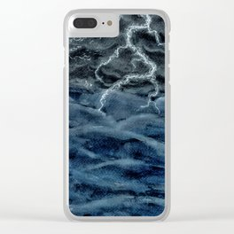 Stormy Sea Clear iPhone Case