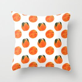 Peach Harvest Throw Pillow
