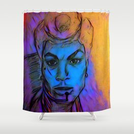 Ruby Rhod Shower Curtain