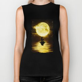 Beauty Mermaid Starry Night Biker Tank