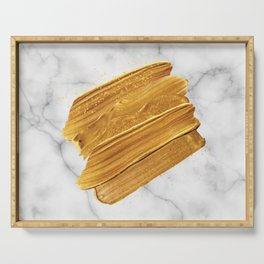 Gold on Marble Serving Tray