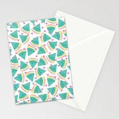 Watermelon love pattern Stationery Cards
