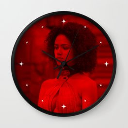 Nathalie Emmanuel - Celebrity (Photographic Art) Wall Clock