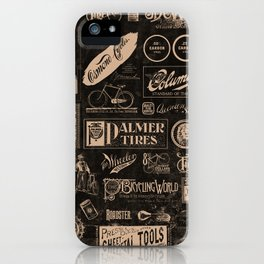 'Re. Cycling' - Vintage Logo Collage iPhone Case