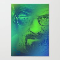 breaking bad Canvas Prints featuring Breaking Bad by Scar Design