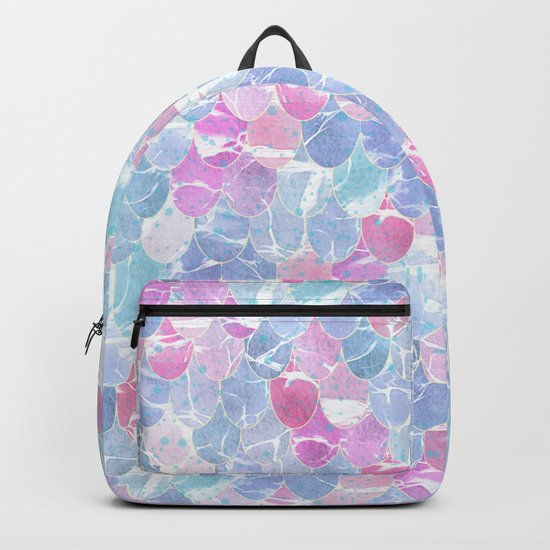 Abstract Mermaid Scales Pattern Backpack